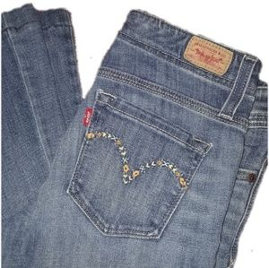 Levi's Jeans Embroidered flare leg